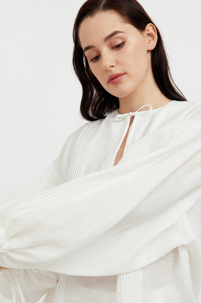 Объемная блузка из рами, Модель S21-110114, Фото №1