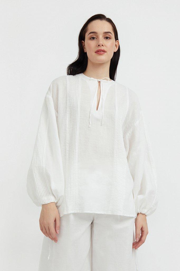 Объемная блузка из рами, Модель S21-110114, Фото №2