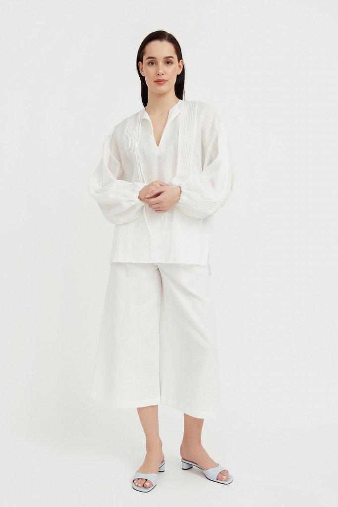 Объемная блузка из рами, Модель S21-110114, Фото №3