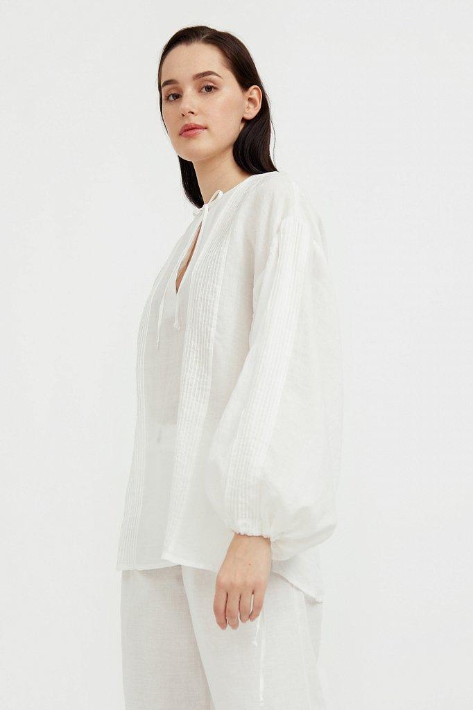 Объемная блузка из рами, Модель S21-110114, Фото №4