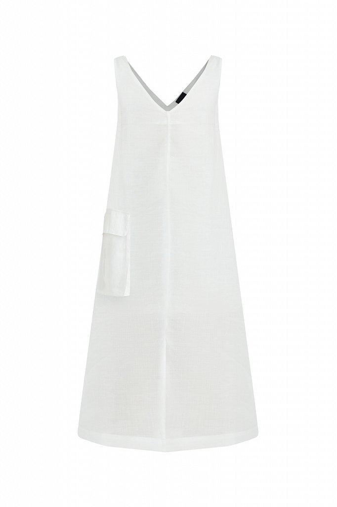 Платье прямого кроя из натуральной ткани рами, Модель S21-110115, Фото №7