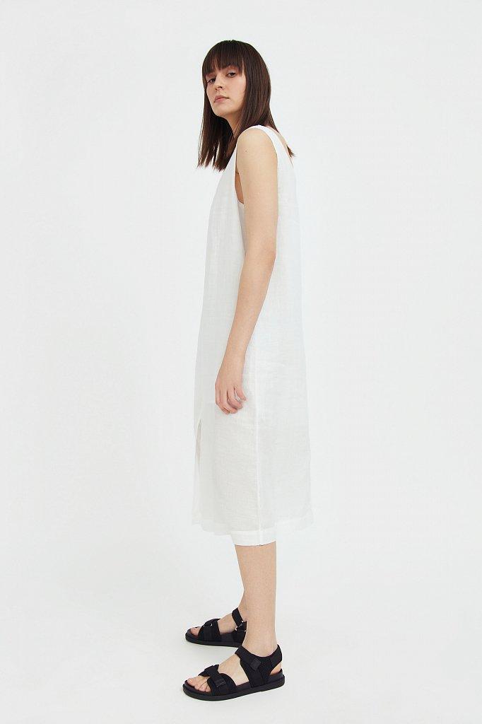 Платье прямого кроя из натуральной ткани рами, Модель S21-110115, Фото №3