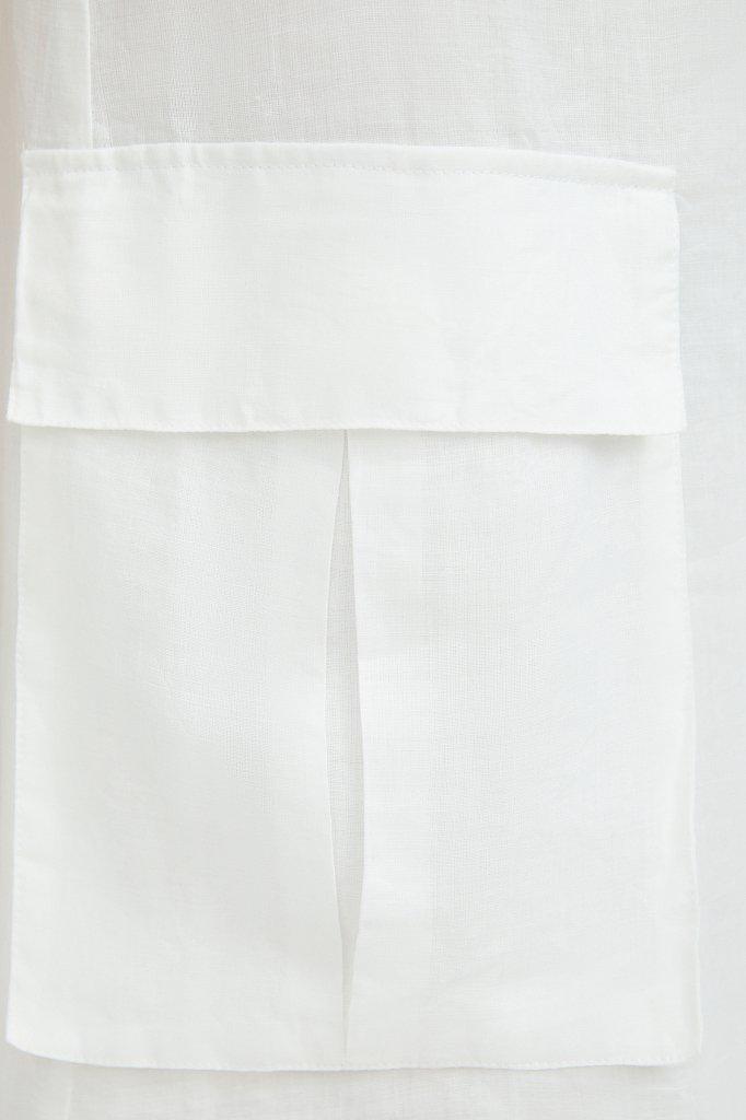 Платье прямого кроя из натуральной ткани рами, Модель S21-110115, Фото №5