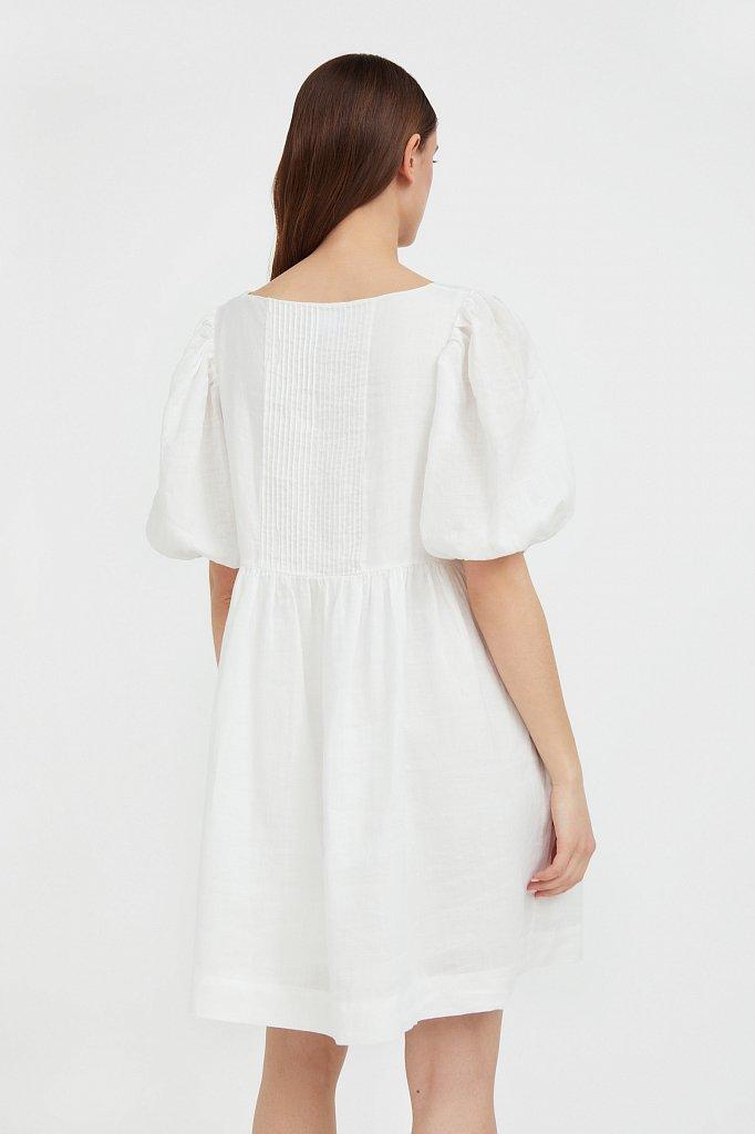 Платье-мини из натуральной ткани рами, Модель S21-110116, Фото №4