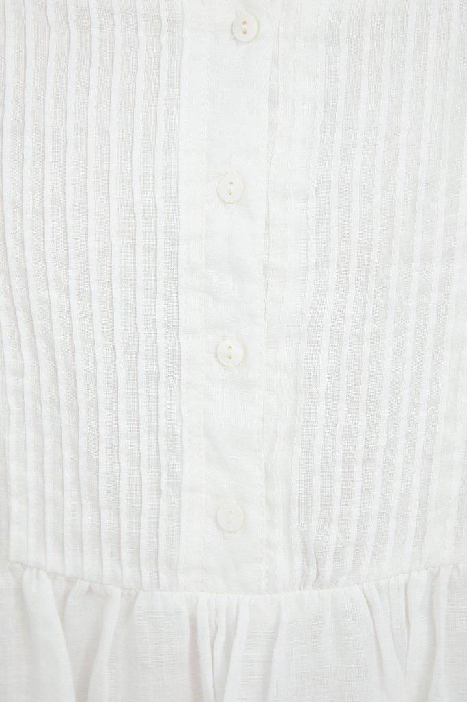 Платье-мини из натуральной ткани рами, Модель S21-110116, Фото №5