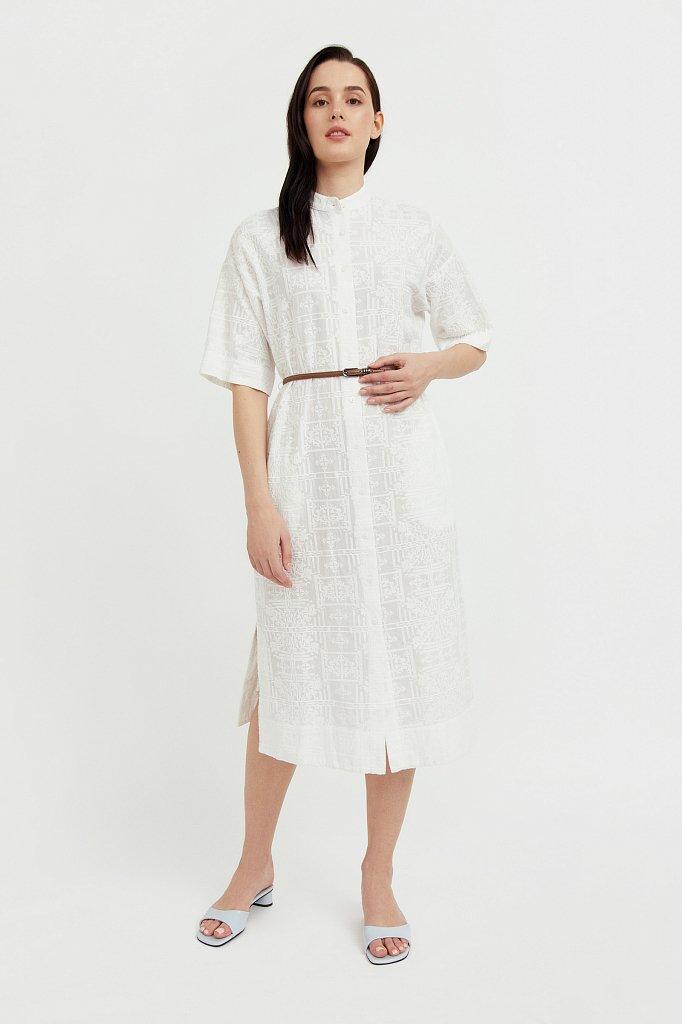 Хлопковое платье с набивным рисунком, Модель S21-11028, Фото №2