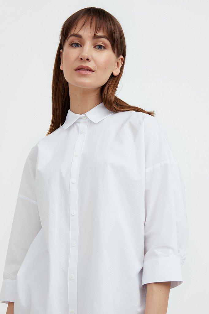 Свободная хлопковая рубашка, Модель S21-11029, Фото №1