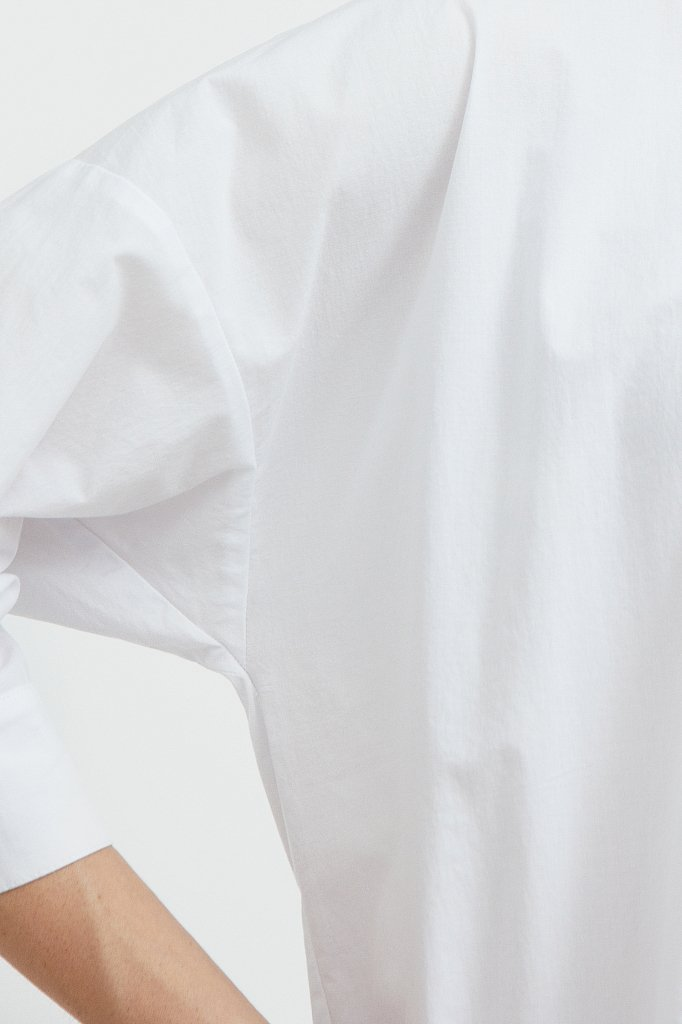 Свободная хлопковая рубашка, Модель S21-11029, Фото №6