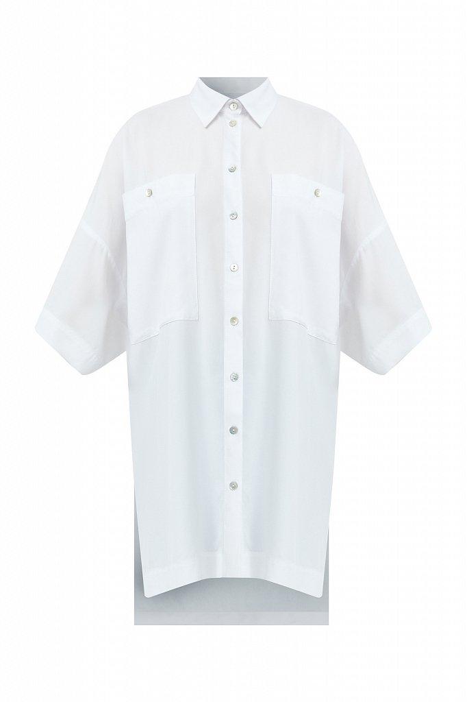 Однотонная рубашка оверсайз, Модель S21-11076, Фото №6