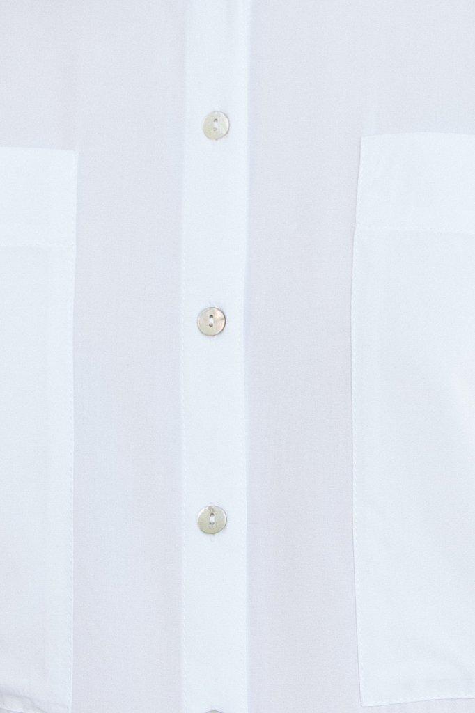 Однотонная рубашка оверсайз, Модель S21-11076, Фото №4