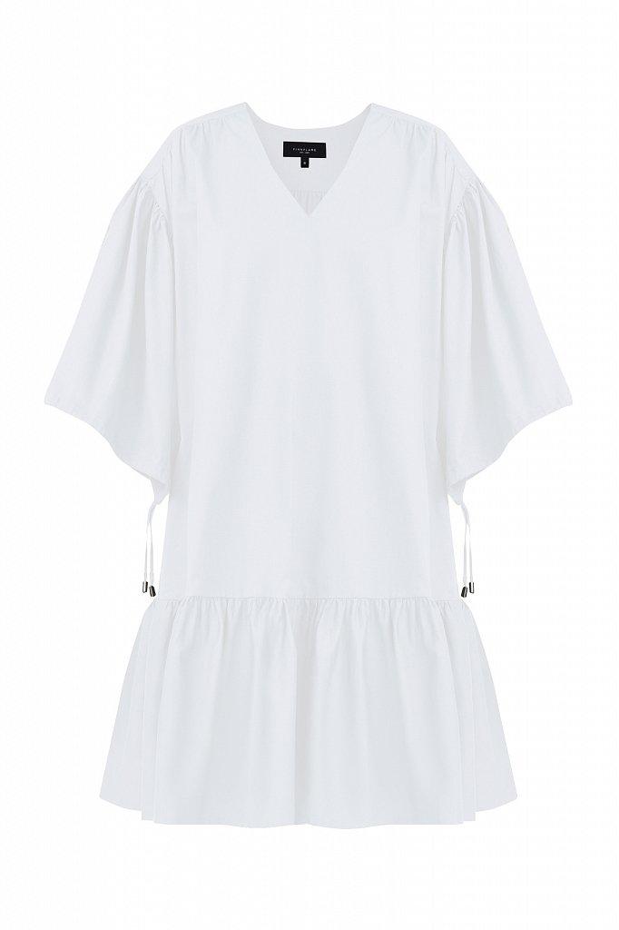 Хлопковое платье с объемными рукавами, Модель S21-11080, Фото №7