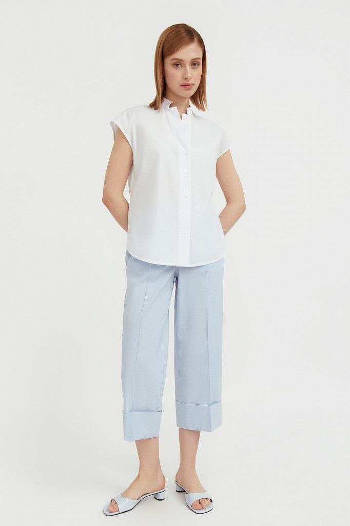 Хлопковая блузка с коротким рукавом, Модель S21-11083, Фото №1