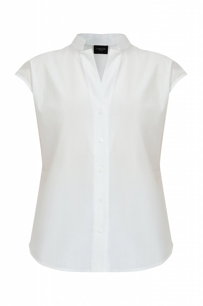 Хлопковая блузка с коротким рукавом, Модель S21-11083, Фото №7
