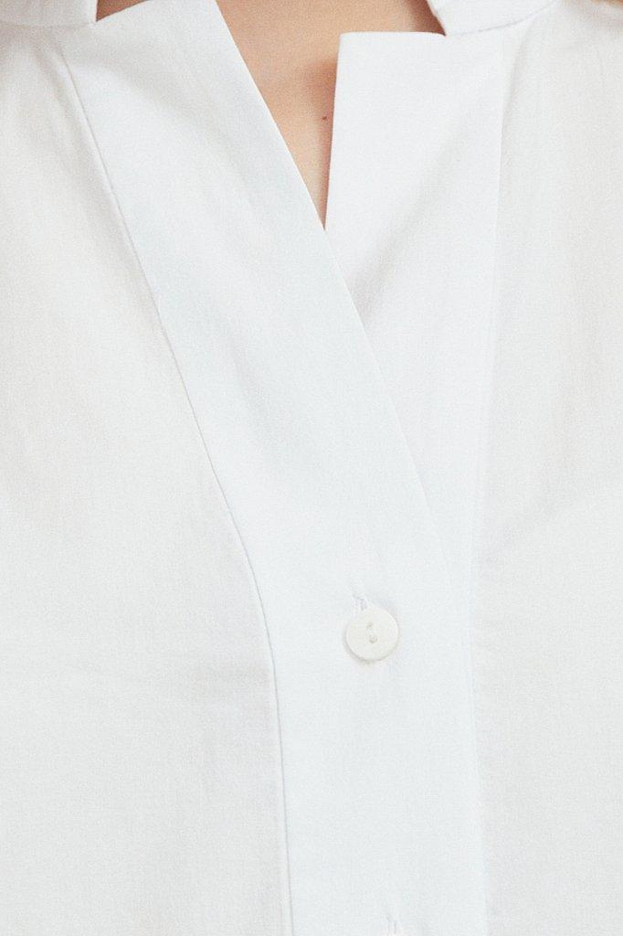 Хлопковая блузка с коротким рукавом, Модель S21-11083, Фото №5