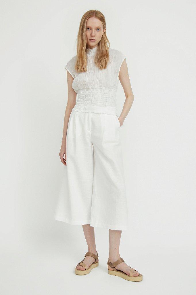 Блуза из жатого хлопка, Модель S21-11099, Фото №3