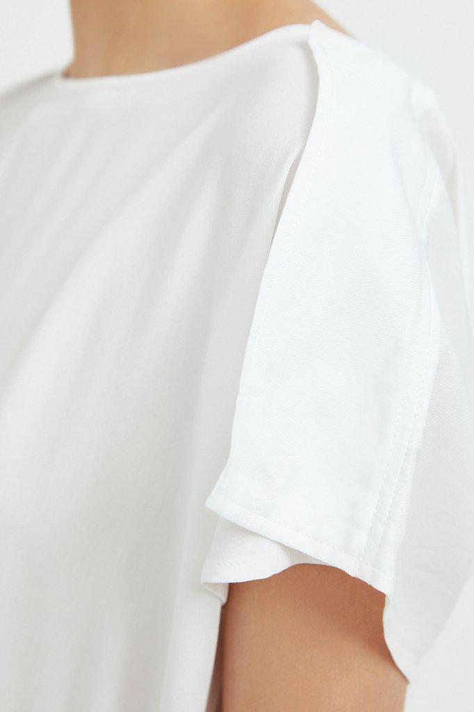 Однотонная блузка на кулиске, Модель S21-12024, Фото №5
