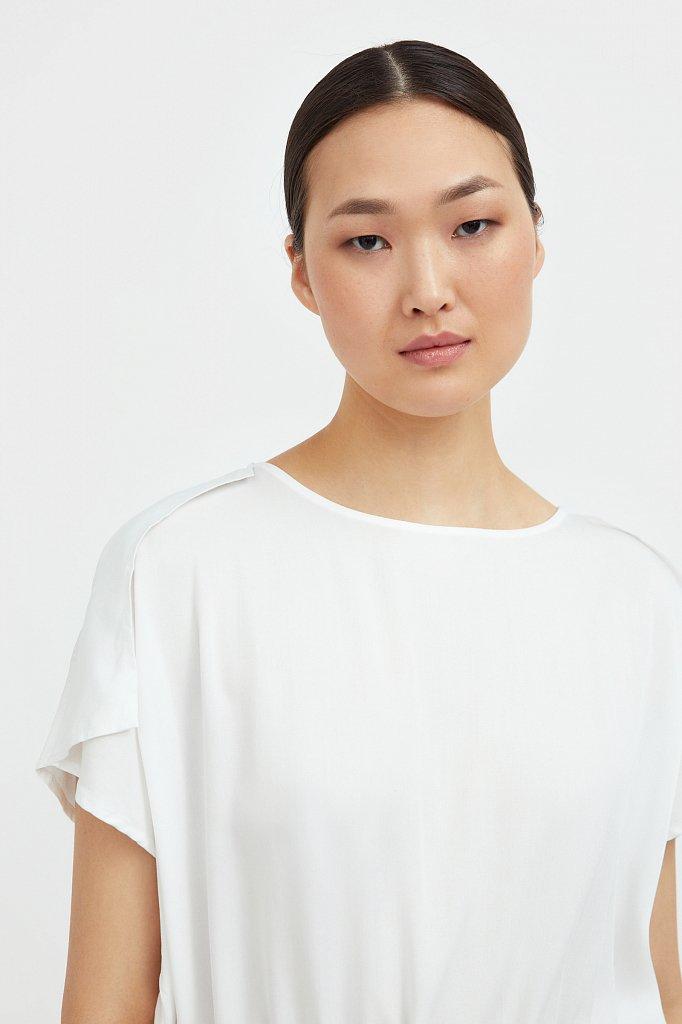 Однотонная блузка на кулиске, Модель S21-12024, Фото №6