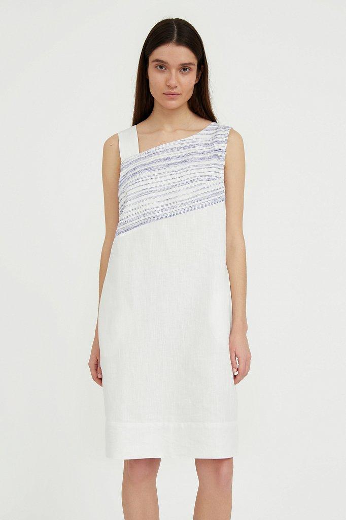 Платье из льна и хлопка, Модель S21-14036, Фото №2