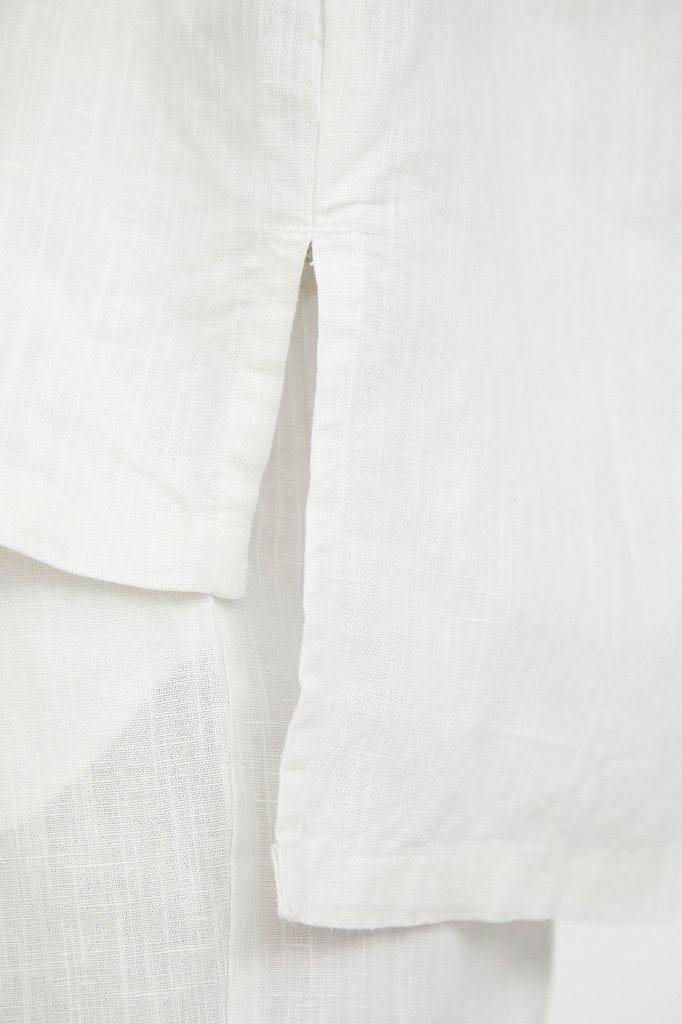 Свободная блузка с полосатым принтом, Модель S21-14037, Фото №6