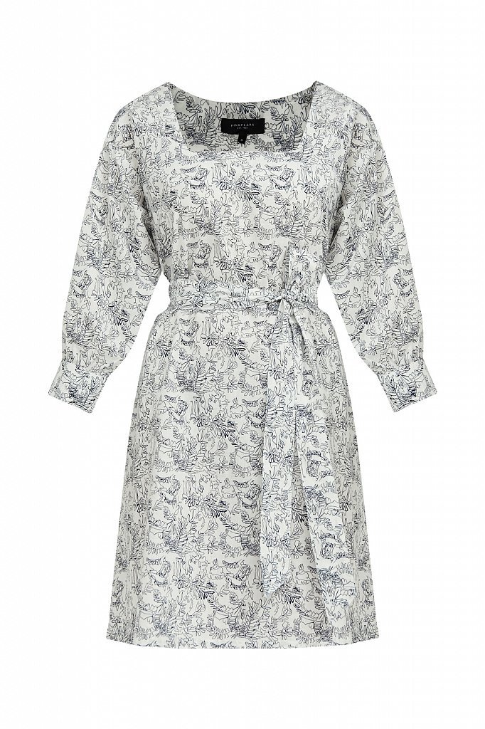 Хлопковое платье с поясом, Модель S21-14044, Фото №7