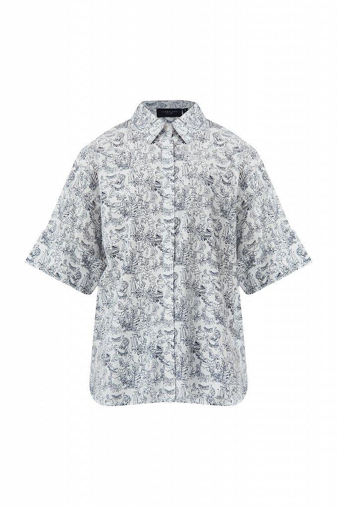 Хлопковая блуза с принтом, Модель S21-14046, Фото №7