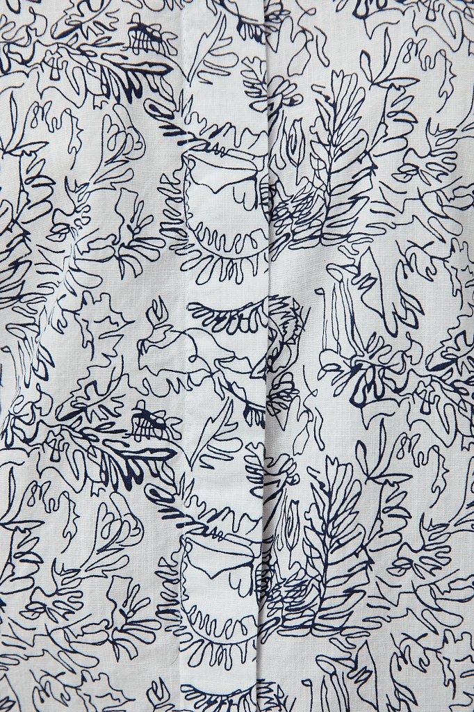 Хлопковая блуза с принтом, Модель S21-14046, Фото №5