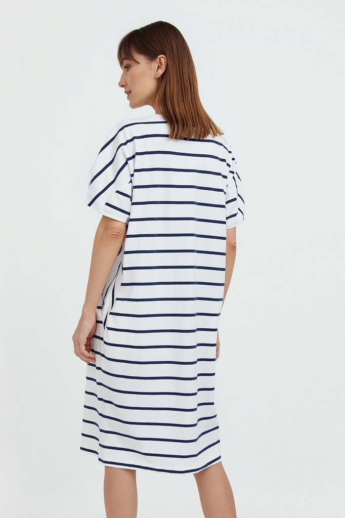 Полосатое платье из хлопка, Модель S21-14069, Фото №4