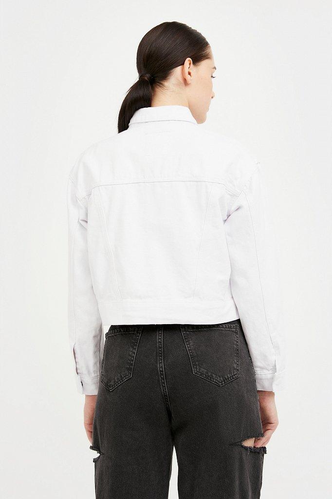Укороченная куртка из денима, Модель S21-15002, Фото №4
