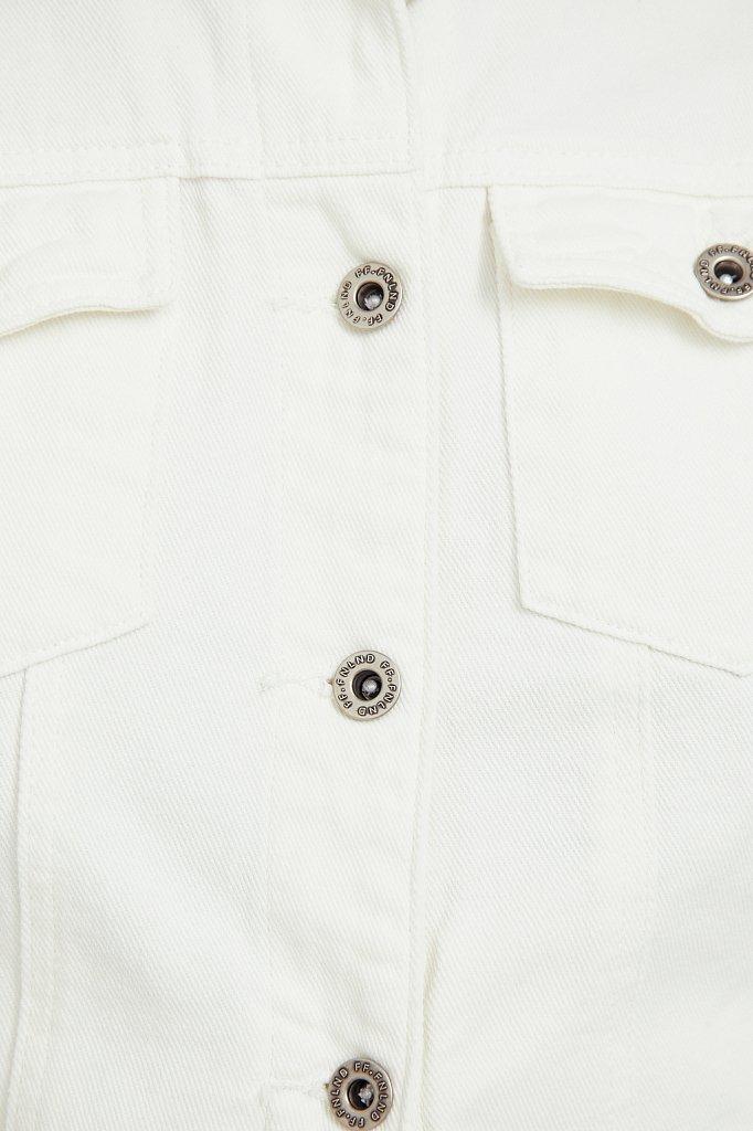 Джинсовая куртка с воротником-стойкой, Модель S21-15014, Фото №5