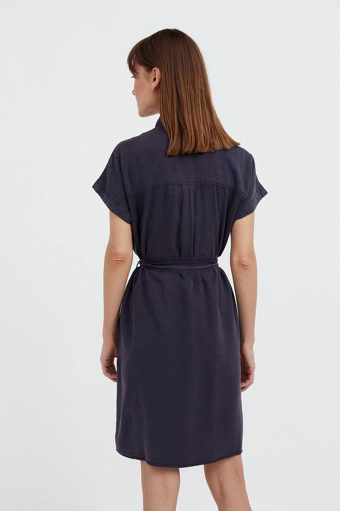 Платье-рубашка из мягкой вискозы, Модель S21-15007, Фото №4
