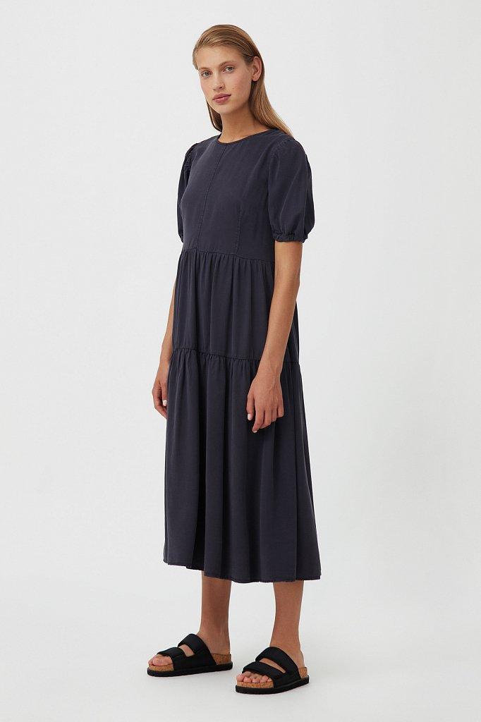 Длинное платье с рукавами-фонариками, Модель S21-15008, Фото №3