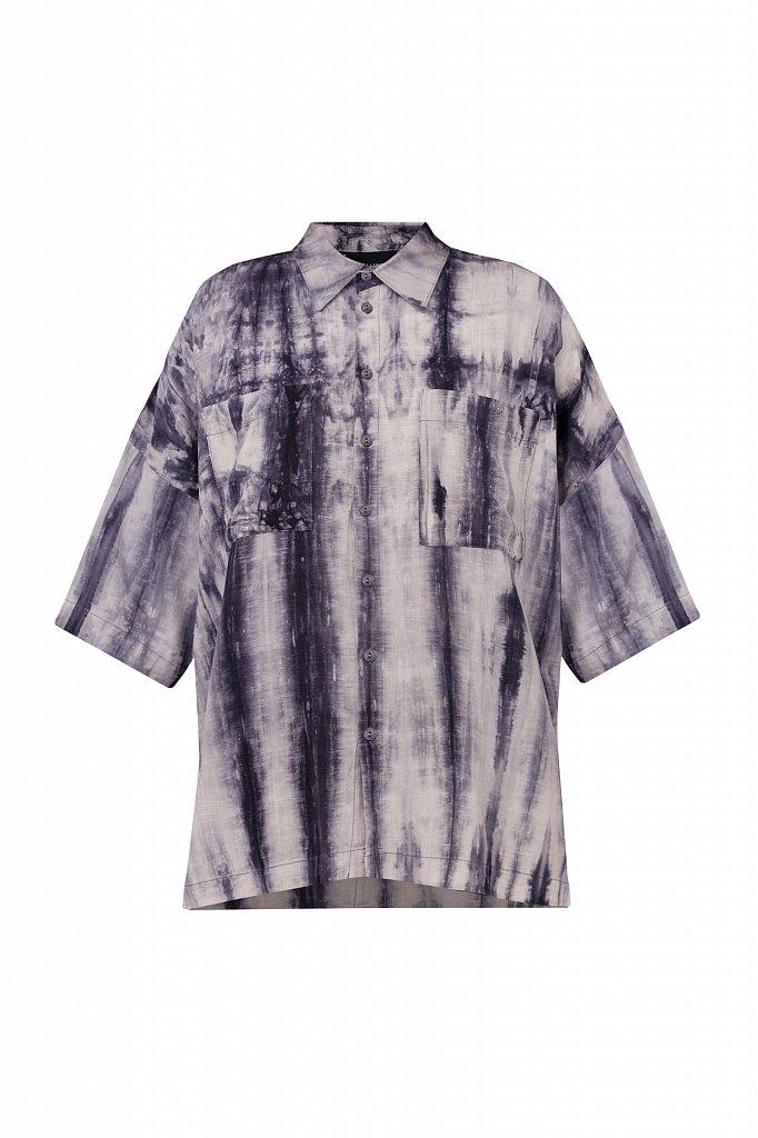 Рубашка с рисунком тай дай, Модель S21-11021, Фото №8