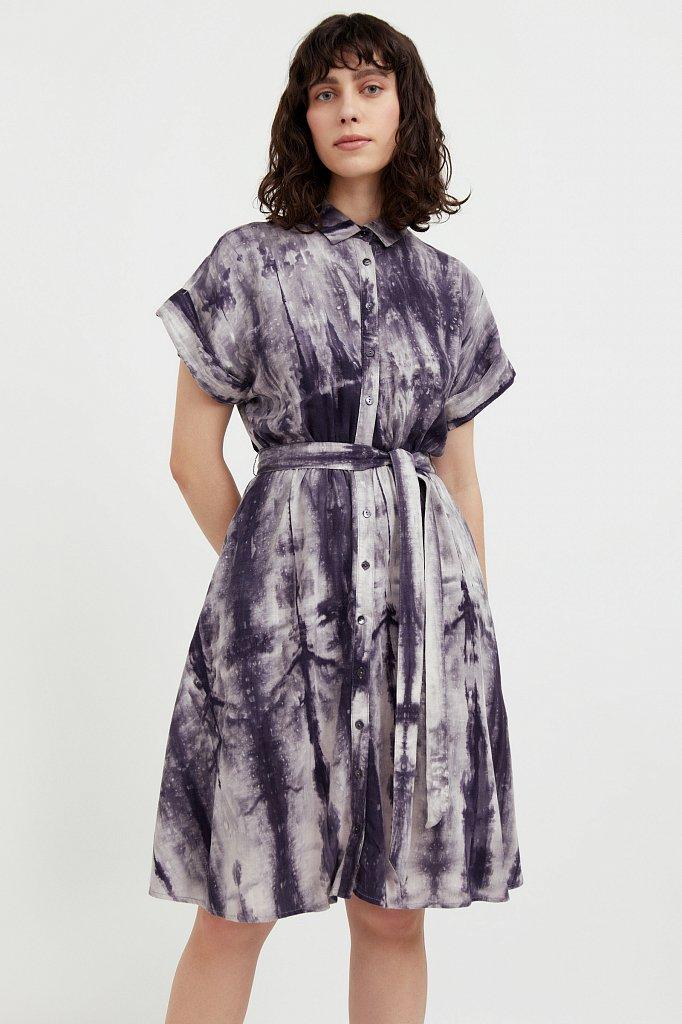 Платье из смесовой ткани, Модель S21-11023, Фото №1