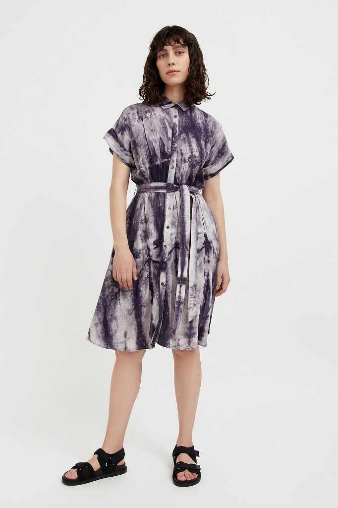 Платье из смесовой ткани, Модель S21-11023, Фото №2