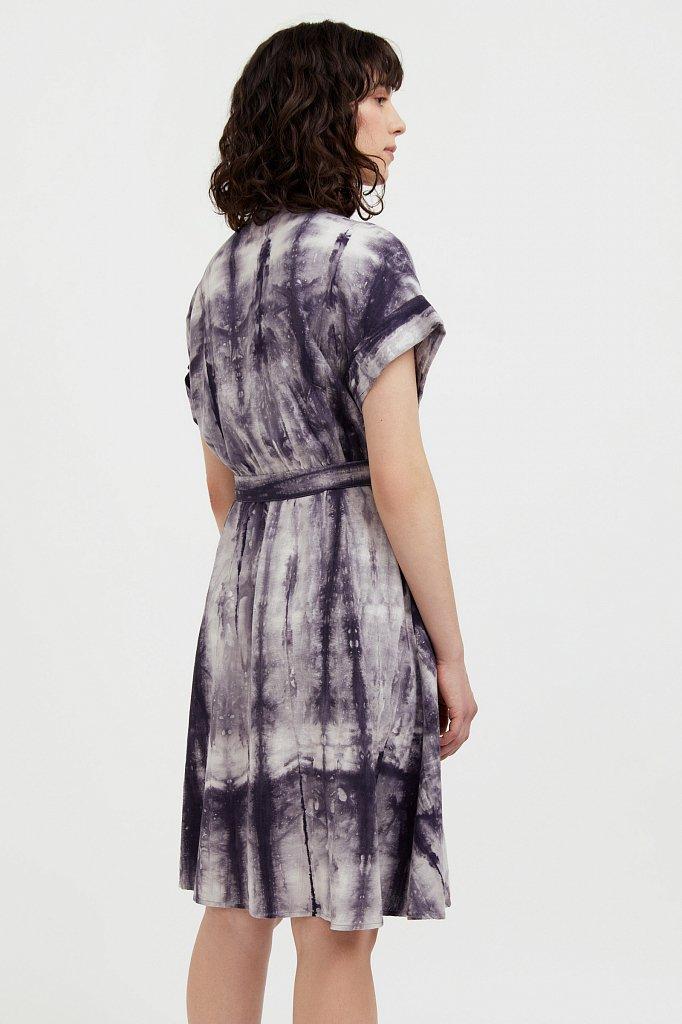 Платье из смесовой ткани, Модель S21-11023, Фото №4
