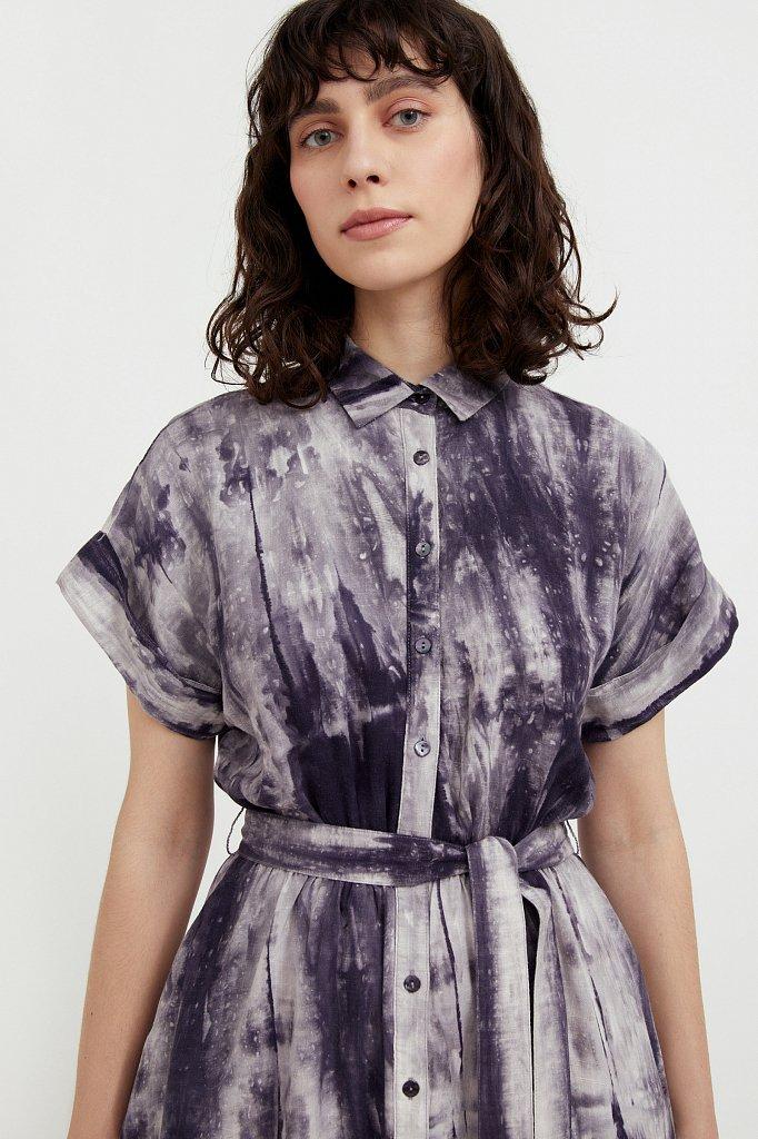 Платье из смесовой ткани, Модель S21-11023, Фото №6