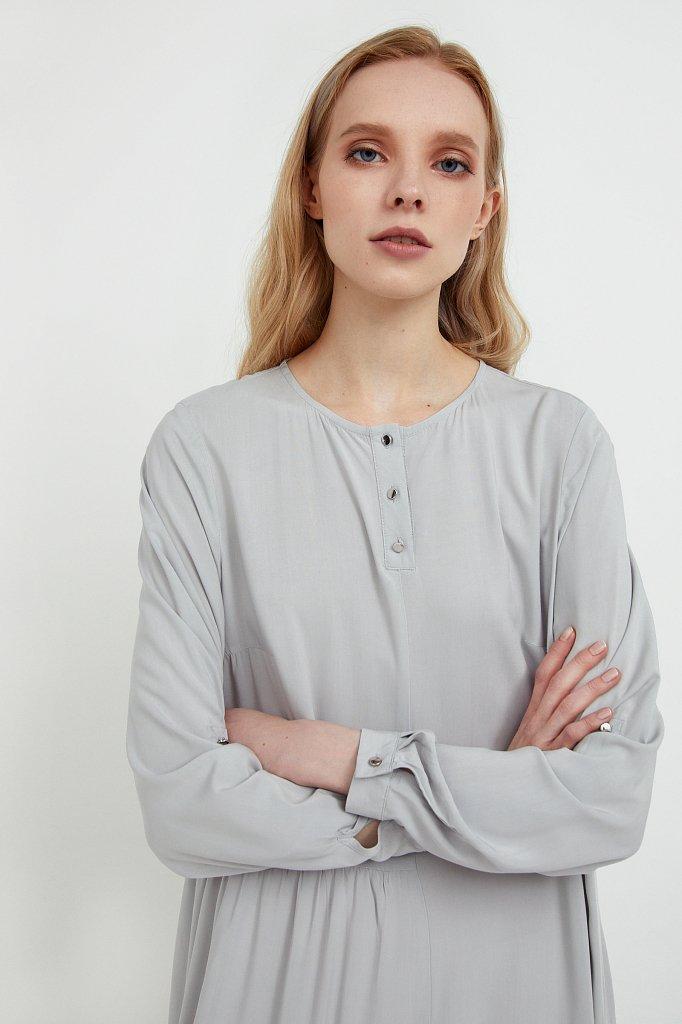 Платье-макси с асимметричными воланами, Модель S21-11078, Фото №6