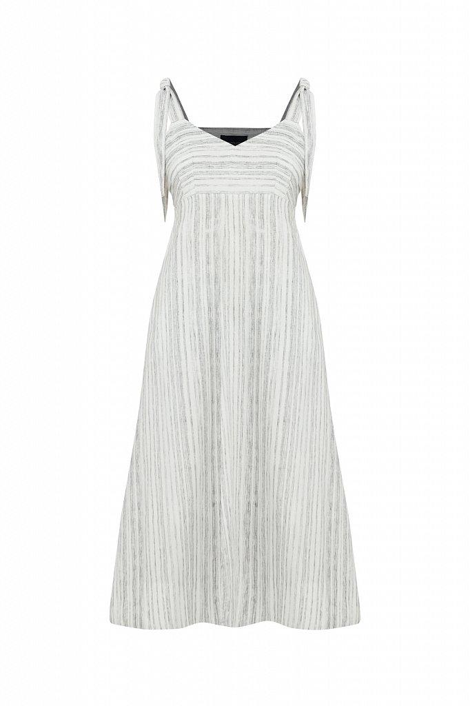 Полосатое платье из льна и хлопка, Модель S21-14034, Фото №7