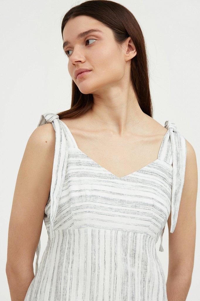 Полосатое платье из льна и хлопка, Модель S21-14034, Фото №6