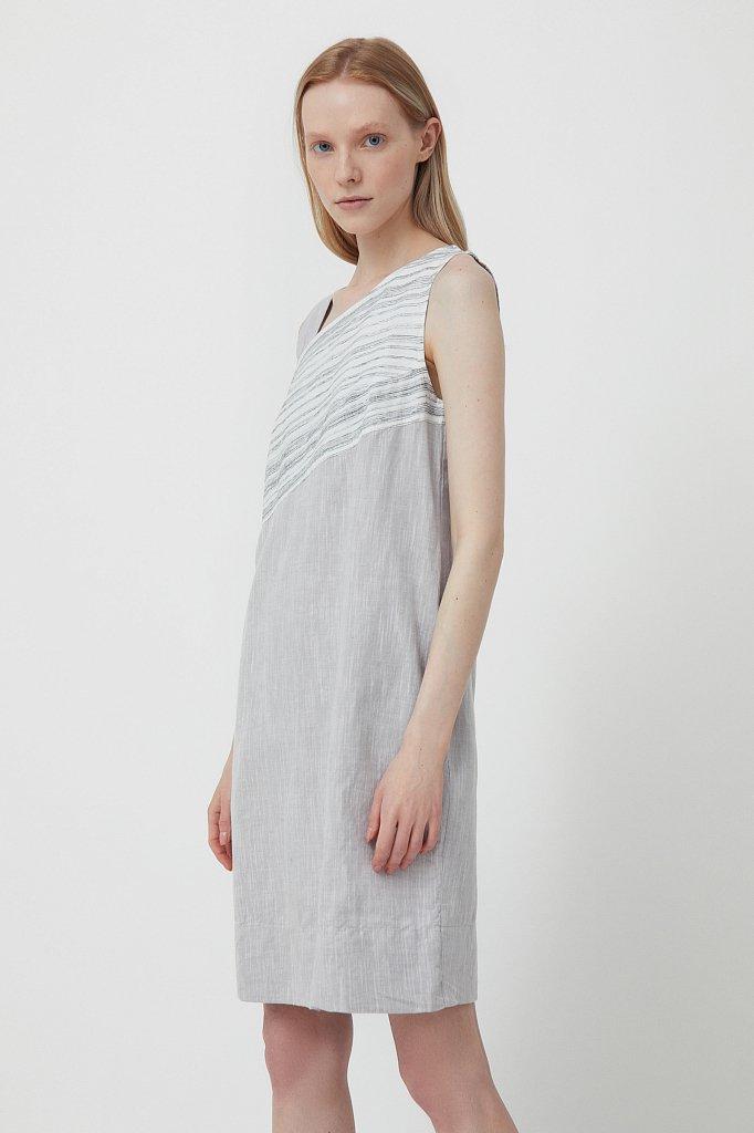 Платье из льна и хлопка, Модель S21-14036, Фото №3