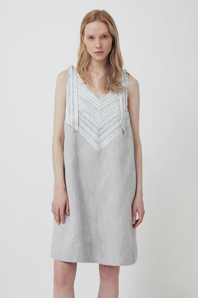 Хлопковое платье с принтом, Модель S21-14039, Фото №2
