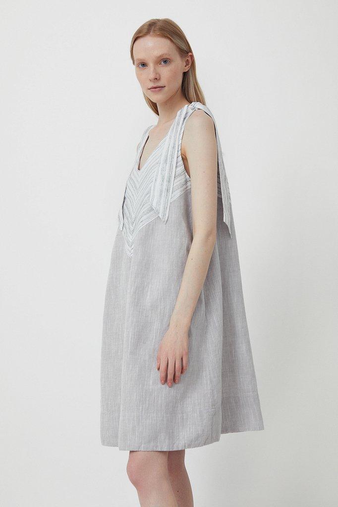 Хлопковое платье с принтом, Модель S21-14039, Фото №3