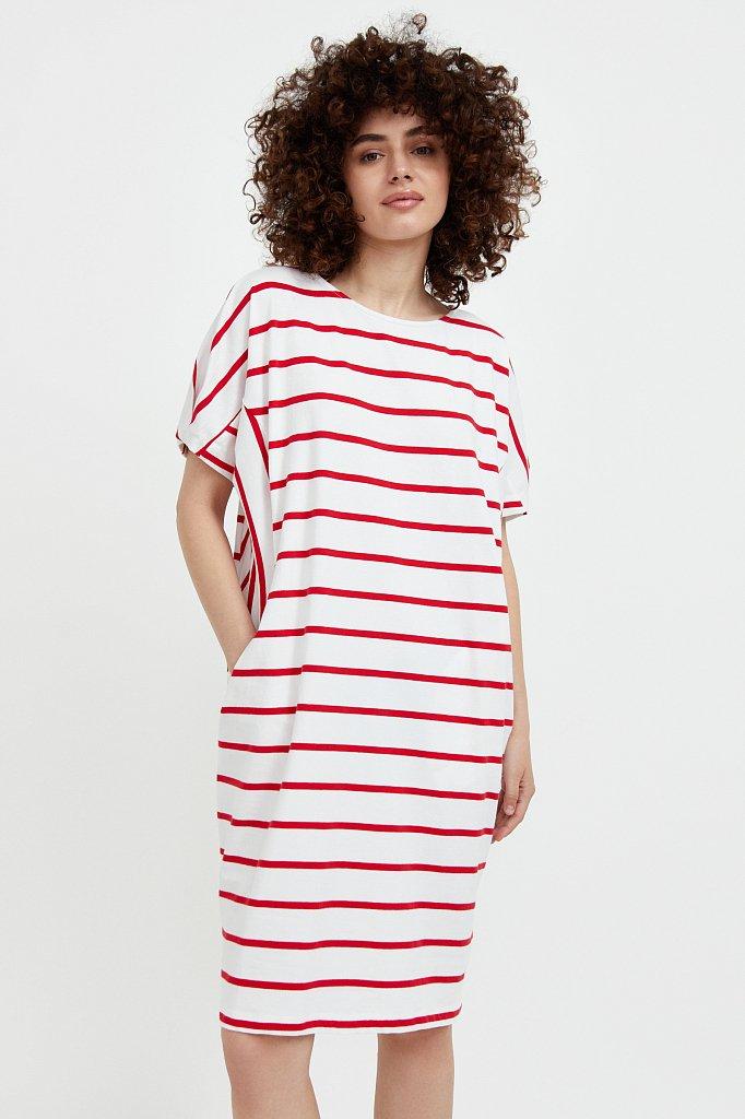 Полосатое платье из хлопка, Модель S21-14069, Фото №1
