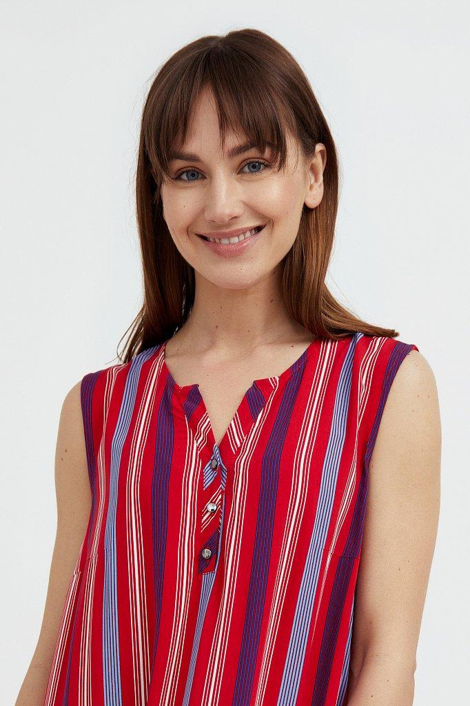 Полосатое платье с воланами, Модель S21-14079, Фото №6
