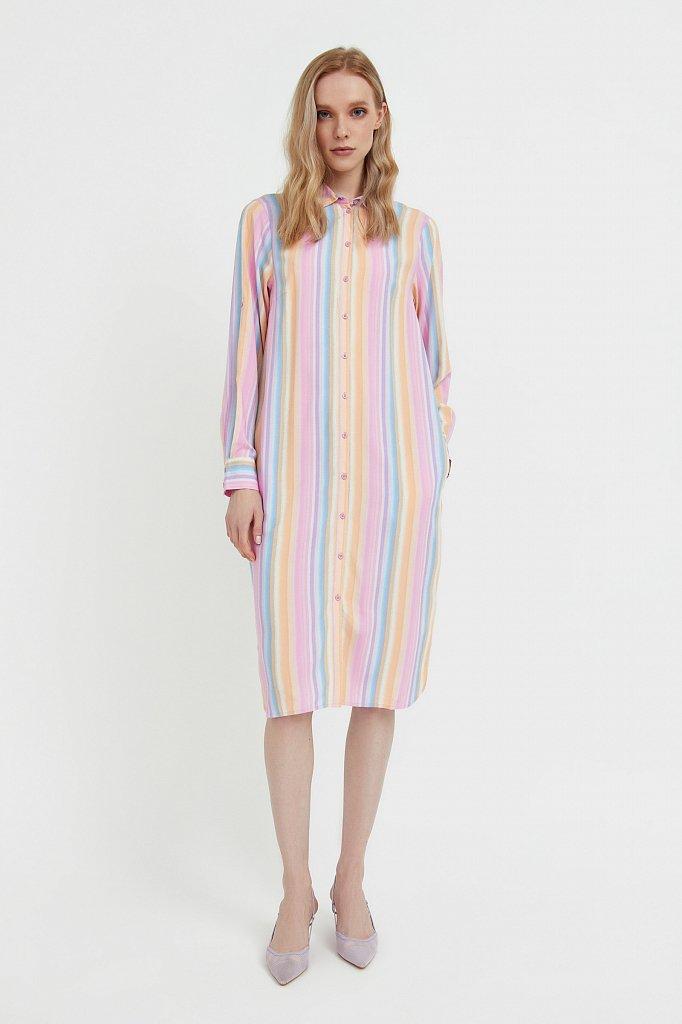 Прямое платье-рубашка в полоску, Модель S21-32021, Фото №1