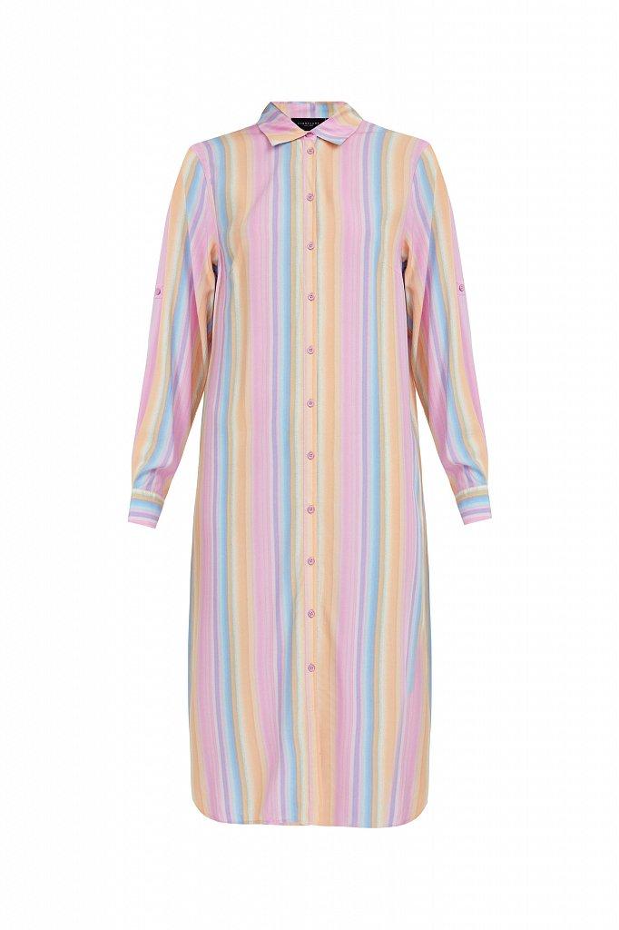 Прямое платье-рубашка в полоску, Модель S21-32021, Фото №7