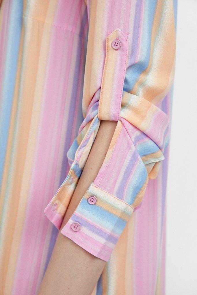 Прямое платье-рубашка в полоску, Модель S21-32021, Фото №5