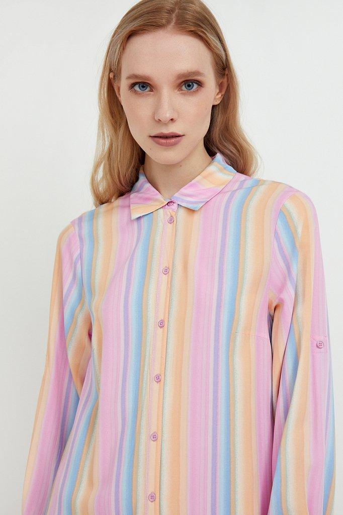 Прямое платье-рубашка в полоску, Модель S21-32021, Фото №6