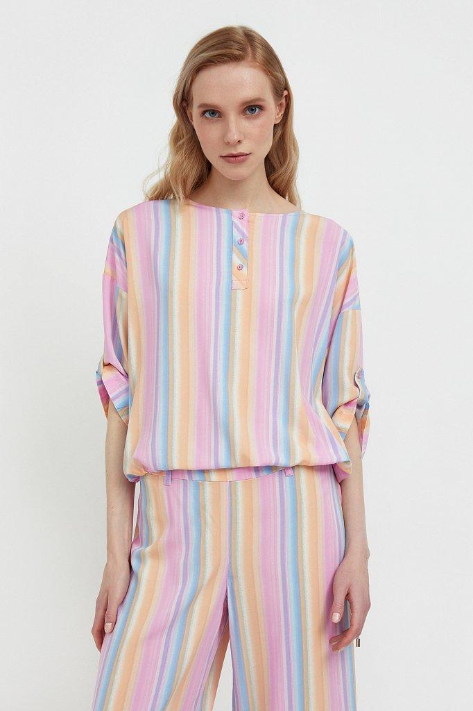 Блузка с полосатым принтом, Модель S21-32022, Фото №1