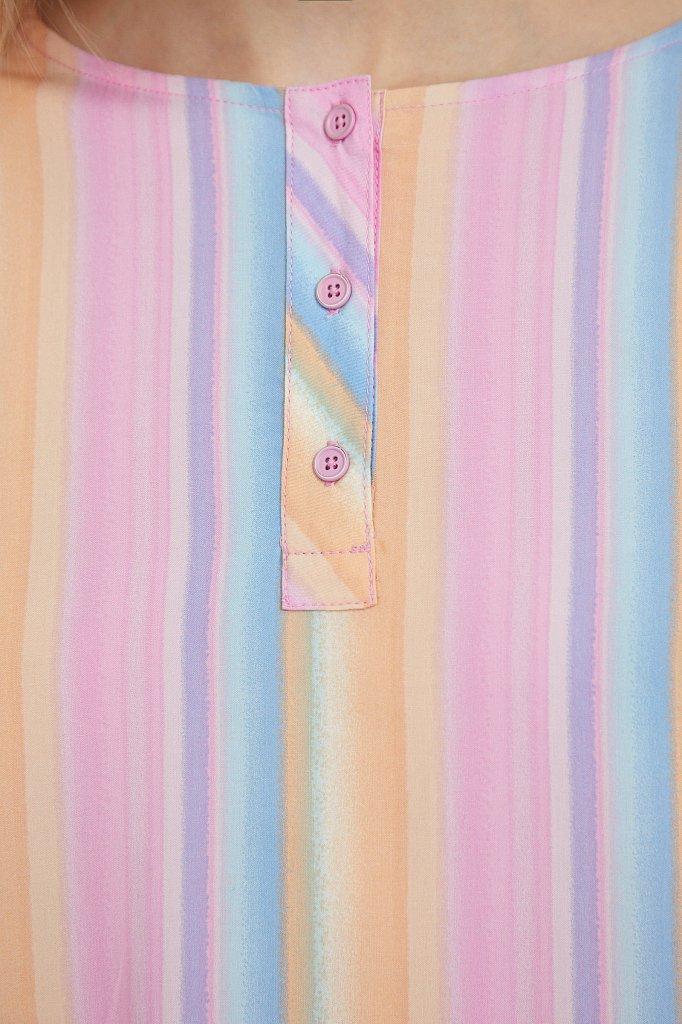 Блузка с полосатым принтом, Модель S21-32022, Фото №5